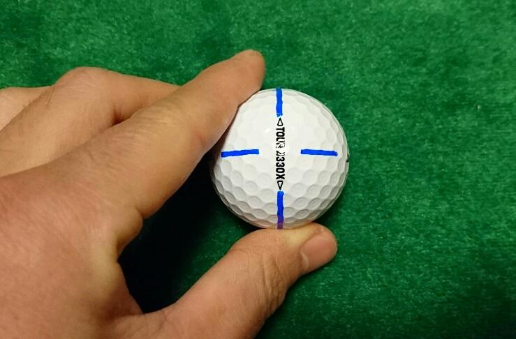 ゴルフボールライン